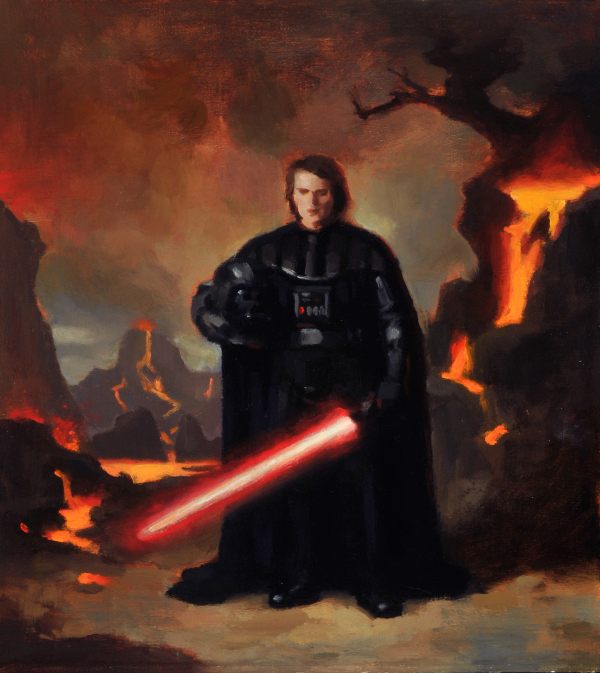 Portrait of Anakin Skywalker as Darth Vader