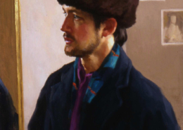 Selportrait in Russian Hat