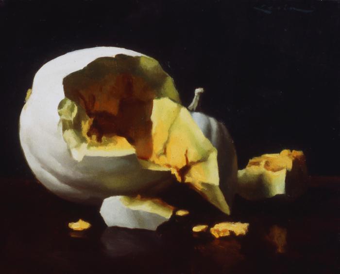 white pumpkin, 8 x 10, 2001
