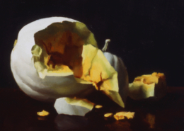 white pumpkin, 8 x 10, 2001