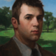 Portrait of man in landscape