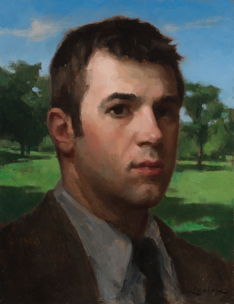 Portrait of man in landscape